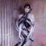 portrait paintings - portrait of emiliana concha de ossa by giovanni boldini
