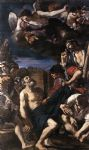 the martyrdom of st peter by guercino painting