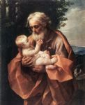 st joseph with the infant jesus by guido reni painting