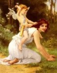 beautiful girl angel by guillaume seignac painting
