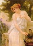 beauty at the well by guillaume seignac painting