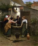 by the well by guillaume seignac painting