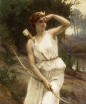 guillaume seignac paintings - diana the huntress by guillaume seignac