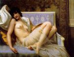 jeune femme denudee sur canape by guillaume seignac painting