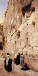 the wailing wall jerusalem by gustav bauernfeind painting