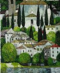 church in cassone by gustav klimt painting