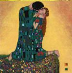 kiss ii by gustav klimt painting