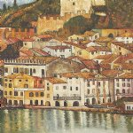malcesine on lake garda 1913 by gustav klimt painting