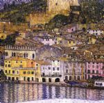 malcesine on lake garda by gustav klimt painting