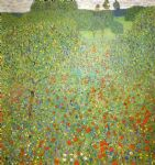 gustav klimt poppy field painting 81691