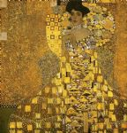 portrait paintings - portrait of adele bloch (gold foil) by gustav klimt