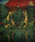 schloss kammer on attersee ii by gustav klimt painting