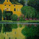 schloss kammer on attersee iii by gustav klimt painting