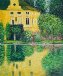 schloss kammer on attersee by gustav klimt painting
