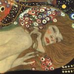 sea serpents iii (detail) by gustav klimt painting