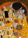 the kiss v by gustav klimt painting