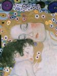 gustav klimt three ages of woman mother and child (detail iii) painting
