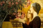 gustav klimt two girls with an oleander painting