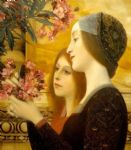 gustav klimt two girls with an oleander detail painting