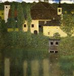 gustav klimt water castle oil paintings