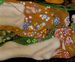 water serpents iii by gustav klimt painting