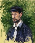 gustave caillebotte bust portrait of eugene lamy painting 32879
