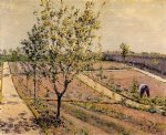 kitchen garden petit gennevilliers by gustave caillebotte painting