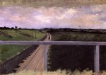 gustave caillebotte landscape with railway tracks painting 32910