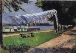 laundry drying by gustave caillebotte painting