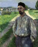 gustave caillebotte portrait of eugene lamy painting 32937