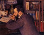 gustave caillebotte portrait of henri cordier painting 32938