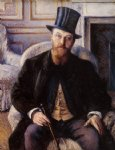 gustave caillebotte portrait of jules dubois painting 32940