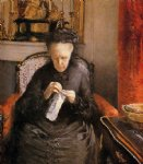 gustave caillebotte portrait of madame martial caillebote the artist s mother painting 32943