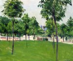 promenade at argenteuil by gustave caillebotte painting