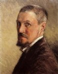gustave caillebotte self portrait with brown background painting 32961