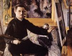 gustave caillebotte self portrait with easel painting 32962