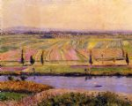 the gennevilliers plain seen from the slopes of argenteuil by gustave caillebotte posters