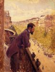 the man on the balcony by gustave caillebotte posters