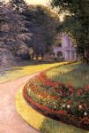 the park at yerres by gustave caillebotte posters
