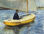 the yellow boat by gustave caillebotte painting