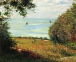 view of the sea from villerville by gustave caillebotte posters