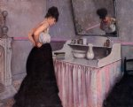 gustave caillebotte woman at a dressing table painting