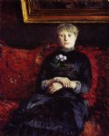 gustave caillebotte woman sitting on a red painting