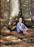 gustave caillebotte yerres camille daurelle under an oak tree painting