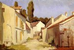gustave caillebotte yerres close of the abbesses painting