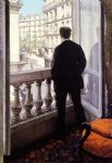 young man at his window by gustave caillebotte posters
