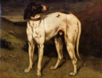 a dog from ornans by gustave courbet painting