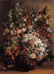 bouquet of flowers by gustave courbet painting