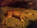 gustave courbet dead deer painting-32744