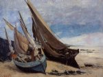 gustave courbet fishing boats on the deauville beach painting 32750